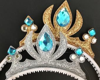 Elsa Crown,Cinderella Crown,Frozen Elsa Headband,disney princess crown,Princess headband,Princess Crown,disney crown,Elsa Elastic Headband