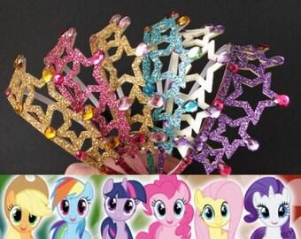 My Little Pony Crown,My Little Pony costume,My Little Pony theme,Rainbow Crown,My Little Pony headband,My Little Pony tiara,Pony Birthday