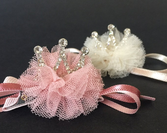 Baby Tiara,Flower girl crown,Flower girl tiara,Crown Hair Clip,tiara hair clip,first birthday crown,birthday girl,kids crown,Tiara snap clip