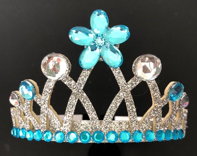 Cinderella Crown,Elsa Crown,Cinderella baby crown,Elsa Headband,Elsa Elastic headband,Frozen Themed Birthday Party,birthday crown,Blue Crown