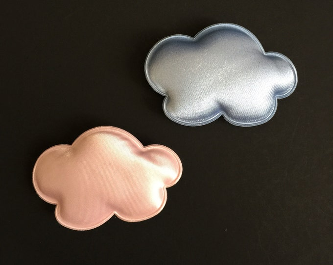 Snap Clip Set,Satinet Hair Clip,Baby Barrette,Toddler Barrette,Cloud Shape Accessory,felt hair clip,little girl hair clip,Toddler snap clip