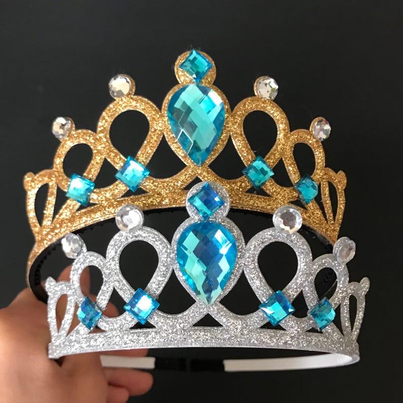 Blue CrownCinderella CrownElsa CrownCinderella image 0