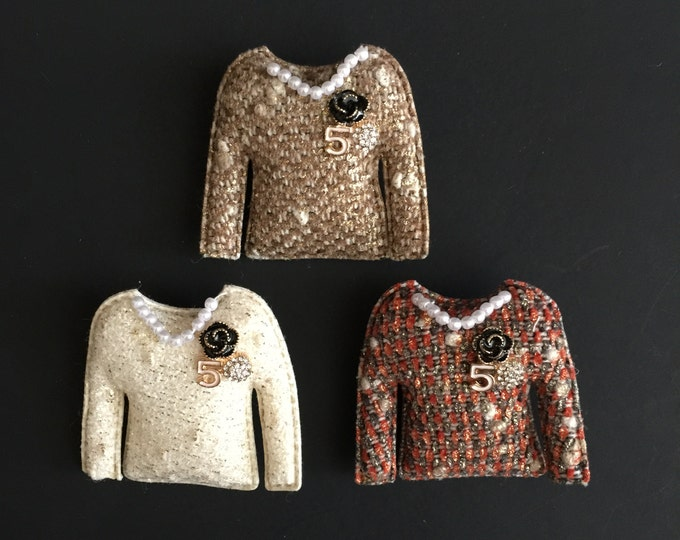 Coco No.5 Brooch,luxury brooch,tweed jacket,CC Style brooch,unique brooch,Runway broche, luxury hair clip,pin,pins,push pins,tweed style