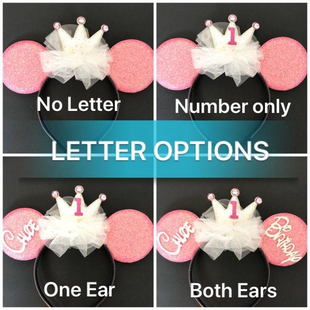 Pink Birthday Minnie Ears,Birthday Mickey Ears,Disney