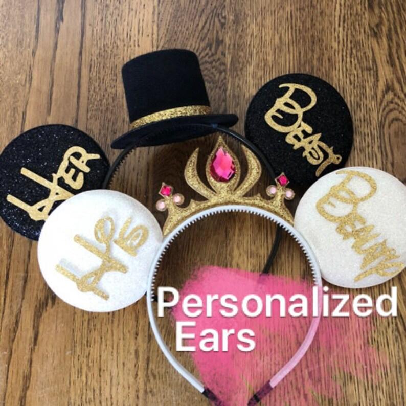 BRIDE & GROOM Mouse EarsWedding Minnie earsAnniversary image 0