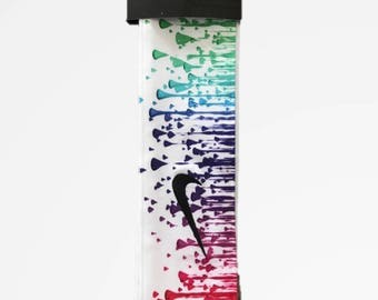 Custom Multi. Color Droplets Nike Dri-Fit Head Tie Headband - Black 7162d3b717f