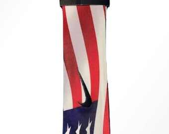 USA Custom Nike Dri-Fit Head Tie Headband American Flag Red White Blue  Memorial Veterans President Independence Day USA White Black 4b8f7f1b69f