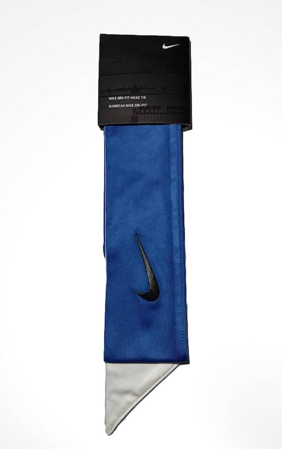 Royal Blue Custom Nike Dri-Fit Head Tie Headband 2.0 White  91a2a0b2f53