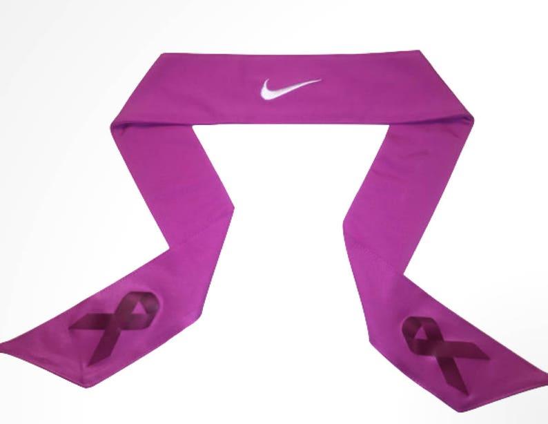 competitive price bd08d bb4d0 Custom Pink Breast Cancer Awareness Nike Dri-Fit Head Tie Headband ...