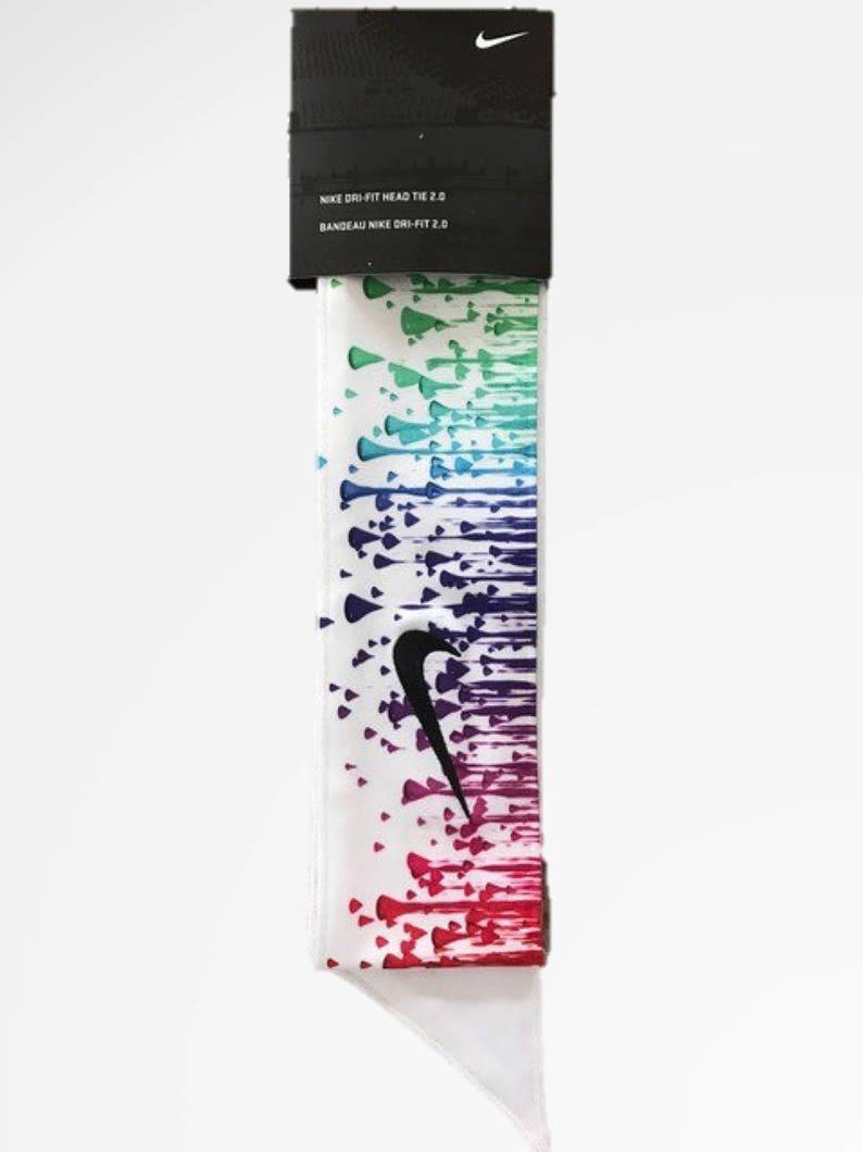 Custom Multi. Color Droplets Nike Dri-Fit Head Tie Headband  85015b3414