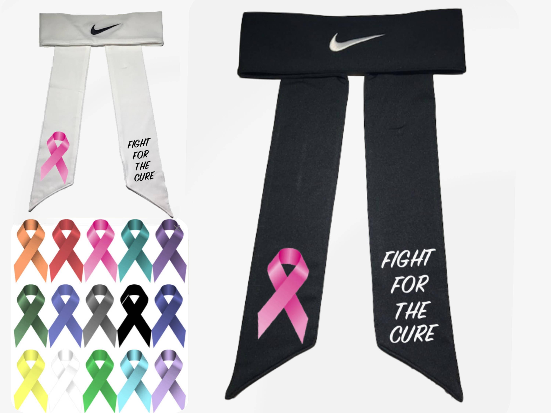 Custom Cancer Awareness Nike Dri-Fit Head Tie Headband Black  5ffff7a4e68