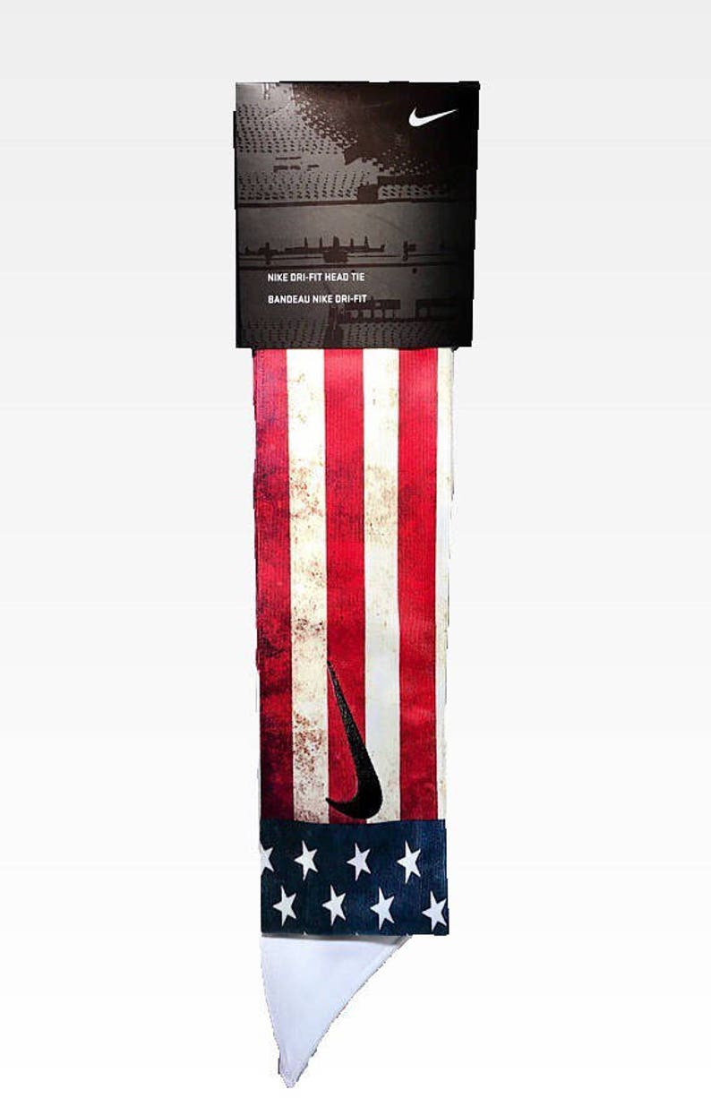 Old Glory Custom Nike Dri-Fit Head Tie Headband American Flag  21ab84feb04