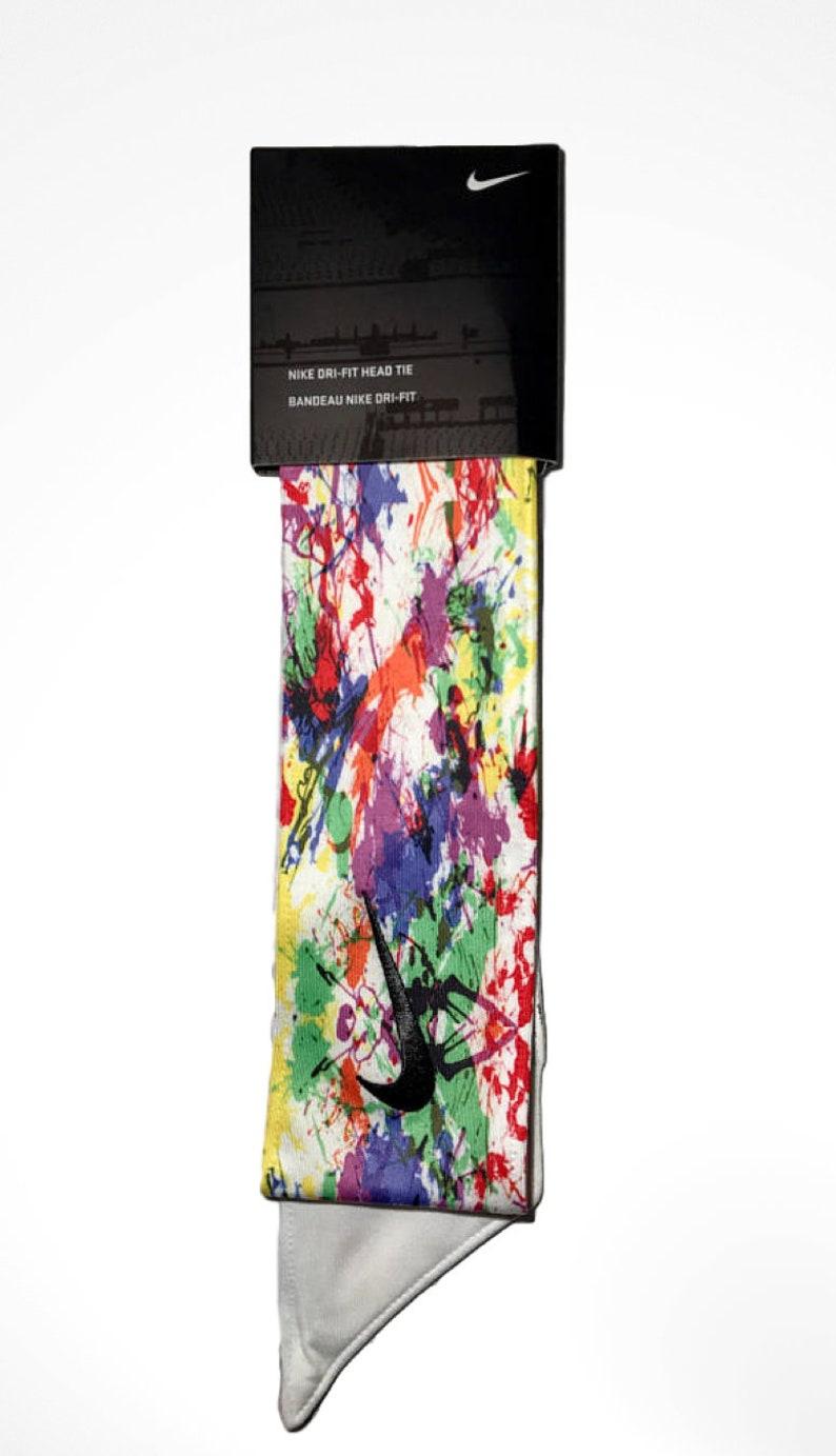 size 40 c8241 78aca Custom Multi. Color Paint Splatter Nike Dri-Fit Head Tie   Etsy