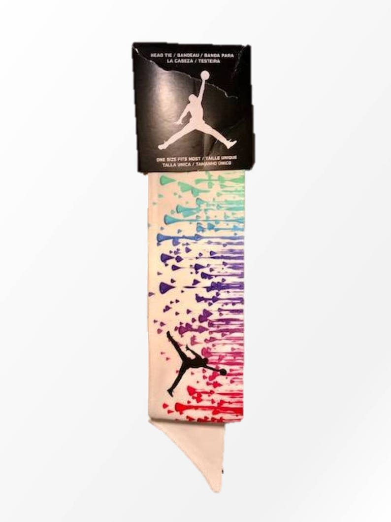 Custom Multi. Color Droplets Nike Air Jordan Dri-Fit Head Tie  b90ae337312