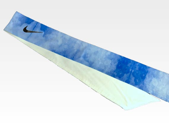 Custom Royal Blue Urban Water Color Nike Dri-Fit Head Tie Back  3b64ce786b4