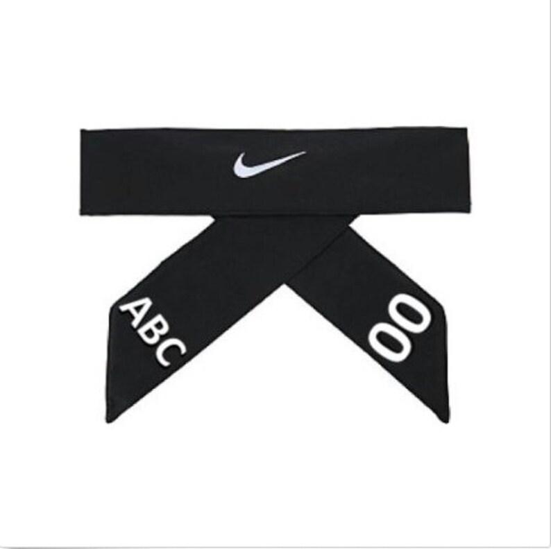 lowest price 9113c 98b01 Black Custom Personalized Nike Dri-Fit Head Tie 2.0 Headband   Etsy