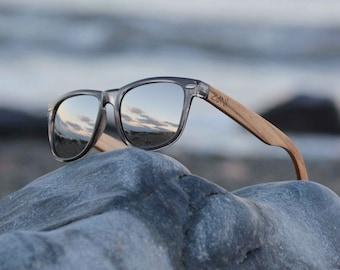 69eb8d5fa75 Wooden Sunglasses. Groomsmen Gift. Personalized Wood Sunglasses. Zebra  Wood. Polarized Sunglasses. Mens Sunglasses. Womens Sunglasses