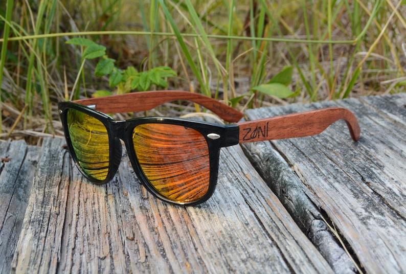 Personalized Wood Sunglasses Polarized Wood Sunglasses image 0