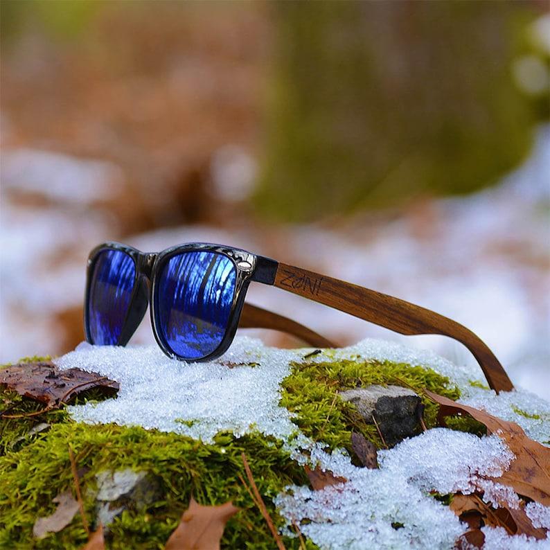 d9d327b2f59 Ebony Wood. Zoni Wear Wooden Sunglasses. Personalized