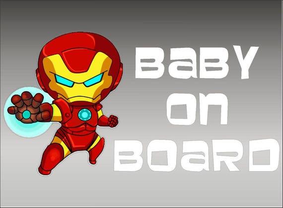 BABY ON BOARD Enfant Enfants Voiture Fenêtre Pare Choc Vinyle Die Cut Stickers Decals