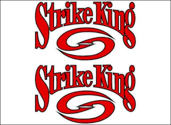 "STRIKE KING Fishing OVAL Logo PAIR 6/"" Vehicle Vinyl Lures Decal Stickers"