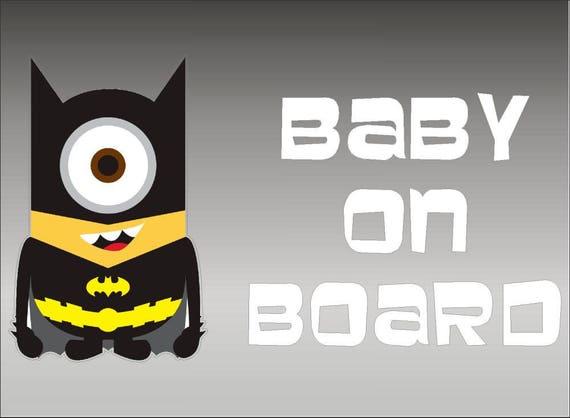 Batman and Robin Babies on Board DC Comics Vinyl Vehicle Decal Kids Art