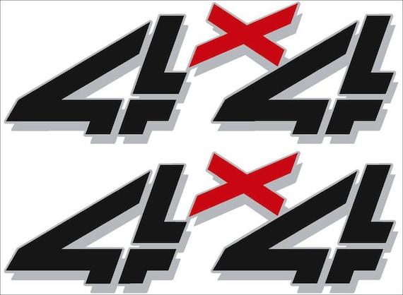 Z71 4x4 Red Chrome Plastic Car DIY Emblem Decal Decoration Sticker for Chevy GMC