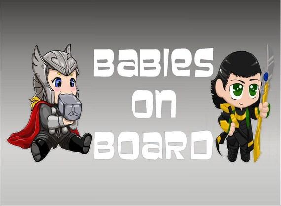 DC Comics Batman and Robin Babies on Board Vinyl Vehicle Child Decal Sticker