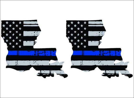"""Set of 2 2/"""" Thin Blue Line State of Texas Exterior REFLECTIVE window Decal"""