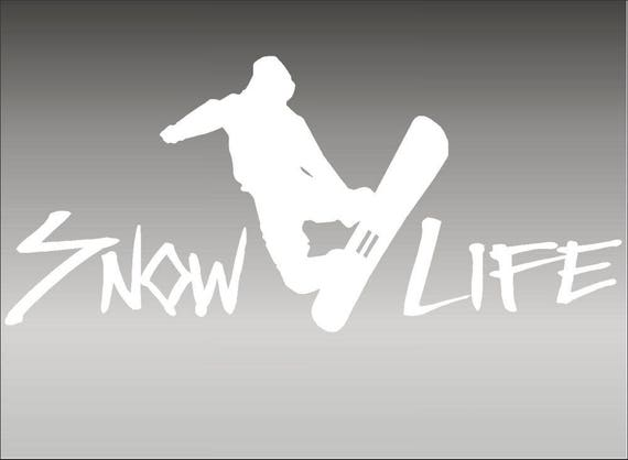 "Extreme Snowboard Snow Life 18/"" Vinyl Vehicle Decal Graphic Sport Sticker"