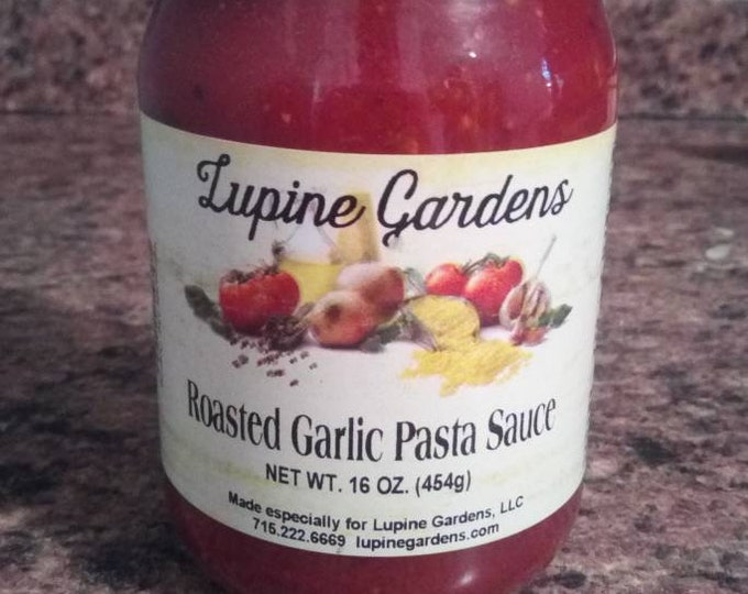 Gourmet Roasted Garlic Pasta Sauce. 16 oz.