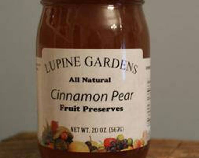 Cinammon Pear Fruit Preserves. 20 oz.