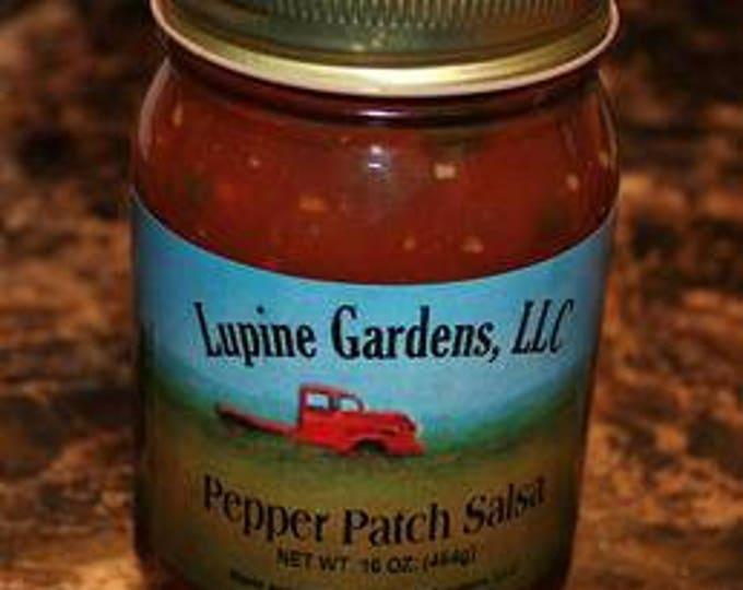 Pepper Patch Salsa. Medium heat.