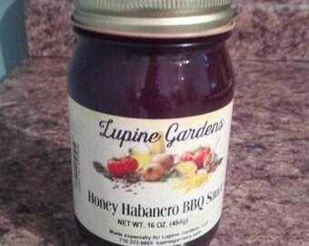 Honey Habanero BBQ Sauce. 16 oz.