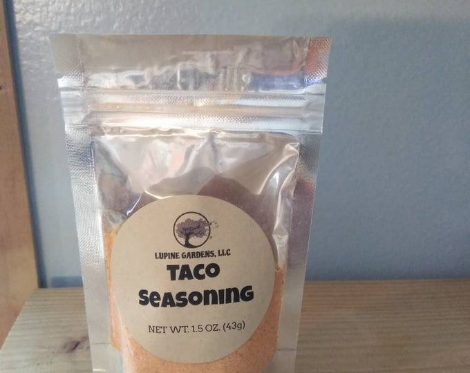 Taco seasoning. 1.5 oz. Package.