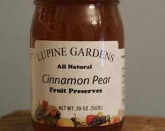 Cinammon Pear Fruit Preserves. 20 oz. COMBINED SHIPPING RATES.