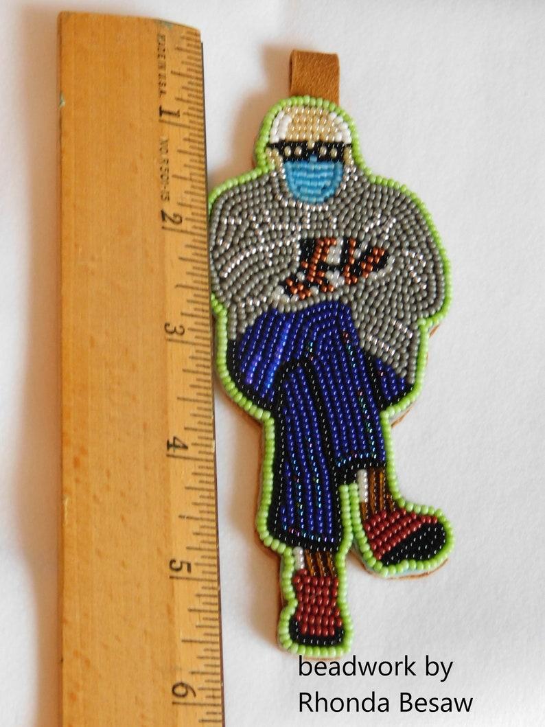 Hand Beaded Bernie Sanders design medallion