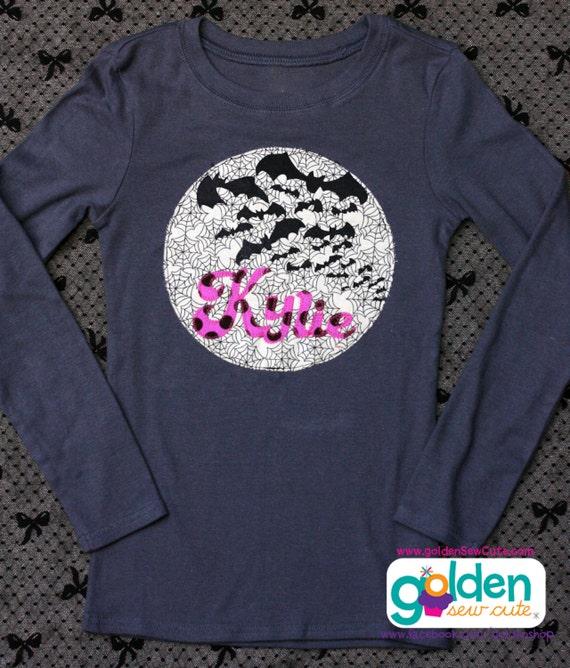 Halloween Batty Bat Name Tee Girl, Girl Shirt, Dress