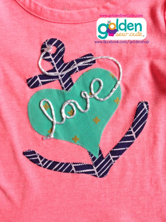 Valentine's Day Anchor Rope LOVE Tee, Nautical