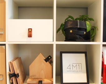 handle furniture Leather Strip leather drawer, genuine leather drawer pulls, modern furniture upgrade minimalist furniture handle