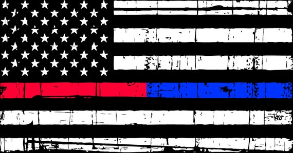 Distressed Thin Red Blue Line American Flag SVG Digital Files  c13d9b9480e