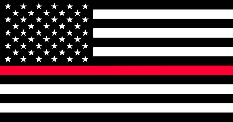 bc1f2ac775822 Thin Red Line American Flag SVG File   Etsy