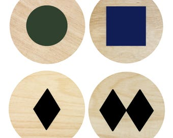 Ski Trail Sign Coasters | Wood Coasters | Drink Coasters | Coasters | Home Decor | Beverage Coasters | Ski Trail Sign | Ski | Made in Maine