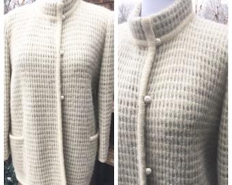 I.B. Diffusion Mohair Wool Sweater Jacket 61fc4b65b