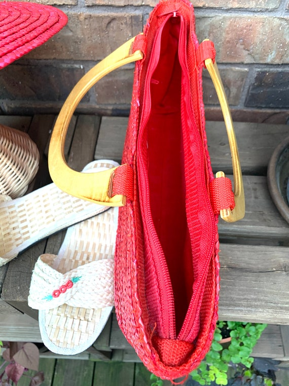 Summer Straw Hat, Purse, and Rice Straw Sandals S… - image 7