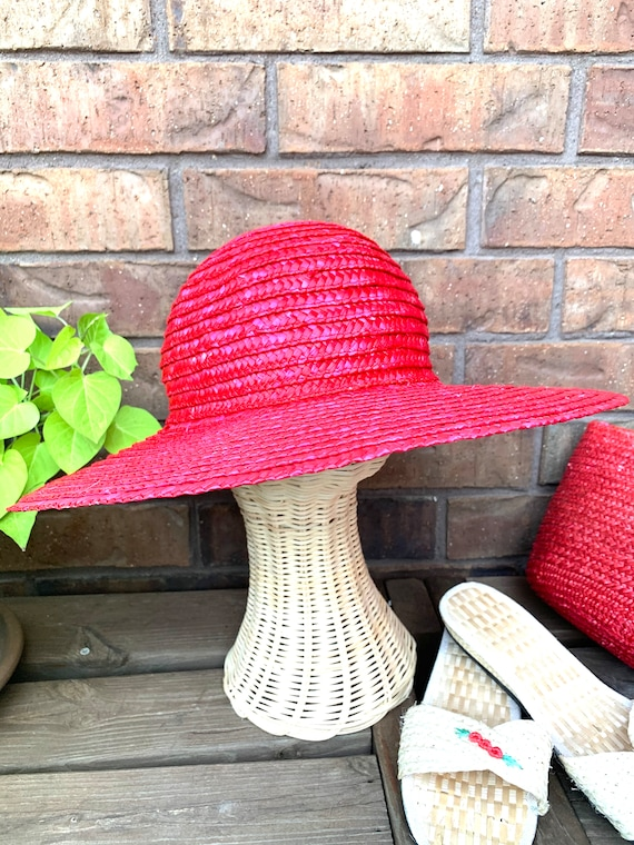 Summer Straw Hat, Purse, and Rice Straw Sandals S… - image 3
