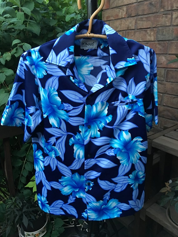 Vintage Men's POMARE Hawaiian Shirt, 1970s