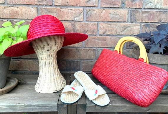 Summer Straw Hat, Purse, and Rice Straw Sandals S… - image 10