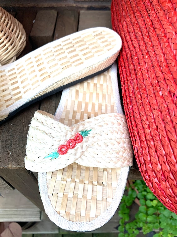 Summer Straw Hat, Purse, and Rice Straw Sandals S… - image 8