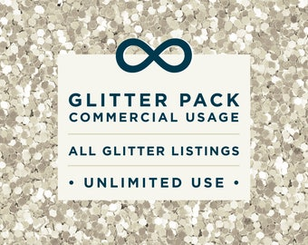 Unlimited Glitter Pack Commercial License // for unlimited commercial use of glitter packs only